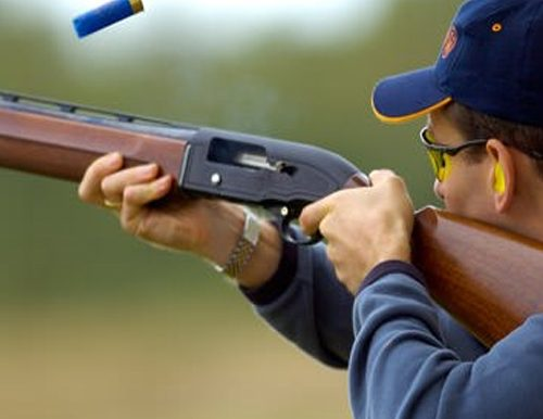 Clay Pigeon Shooting from a fundraising auction