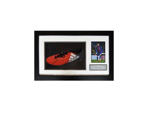 Messi Football boot signed that you can win at a fundraising auction