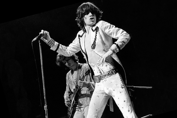 Mick Jagger picture as a prize at a fundraising auction