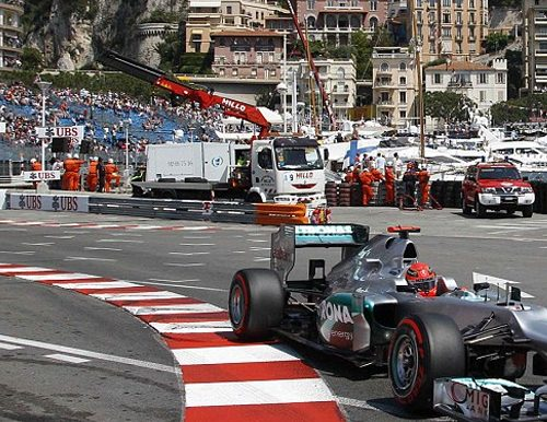An F1 car in the Monaco Grand Prix taken on a trip won at a fundraising auction