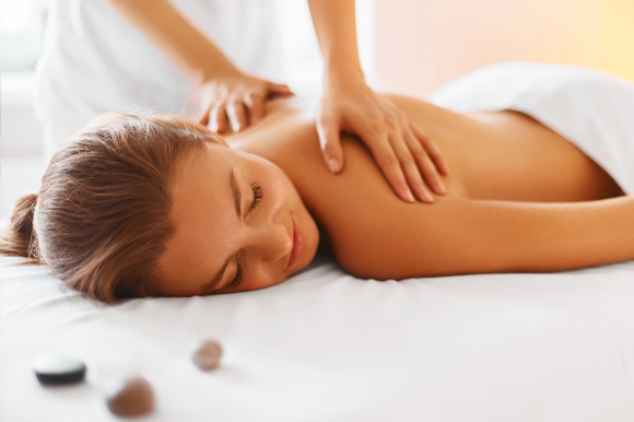 A relaxing massage won in a fundraising auction