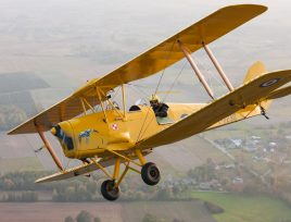 A tiger moth flight as an experience won at a fundraising auction